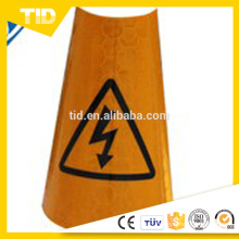 Collapsable PVC reflective traffic cone sleeves