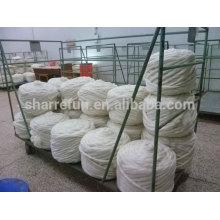 Natürliche rohe weiße chinesische Schafe Wolle Top Roving zum Spinnen