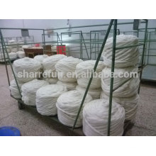 Natural Raw White Chinese Sheep Wool Top Roving For Spinning
