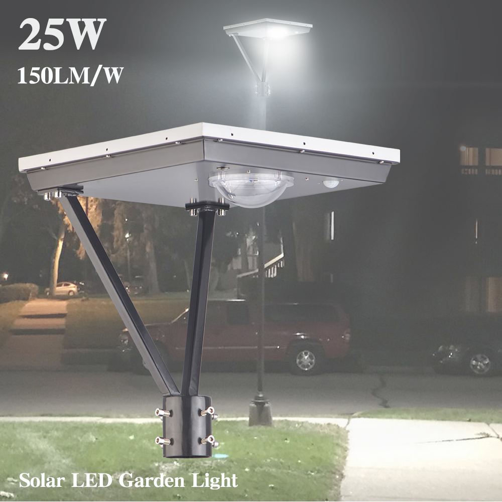 25W Solar Post Top Lights 3750lm