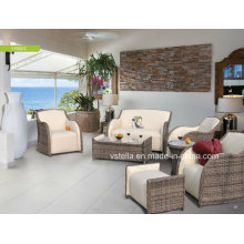 High Quality PU Leather Home and Garden Rattan Sofa
