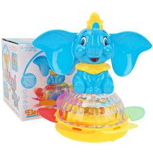 Dom elétrico animal girassol flash brinquedo de elefante de música