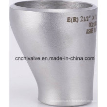 Ss 304 316 Soudage Butt Raccords de tuyaux en acier inoxydable Réducteur excentrique