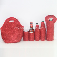 Red lunch bags hot and cold set