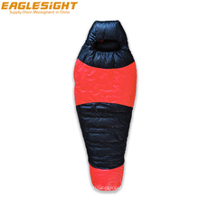 Water Repellent Grey Goose Down Sleeping Bag Filling 1000g Ripstop Nylon Winter Sleeping Bag Outdoor Camping in Cold Weather