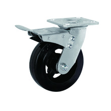 Heavy Duty Rubber with Iron Casters Total Brake