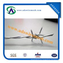 Double Twist Steel 14 Gauge Galvanized Barbed Wires