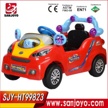 Electric music baby toy car four wheel R/C battery ride on baby cartoon car with light export toy car HT-99823