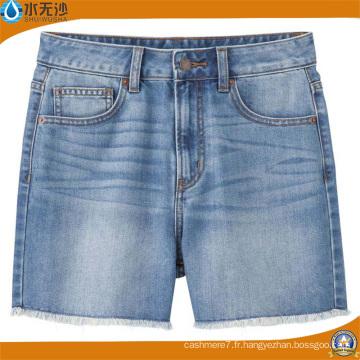 Mode femmes été pantalons chauds taille haute jeans shorts