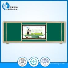 Magnetic Green Sliding Blackboard/Chalkboard with LCD