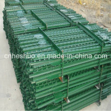 Factory Wholesale ISO Painted Green and Galvanized Studded T Post Peach Post 3D Wire Mesh Model