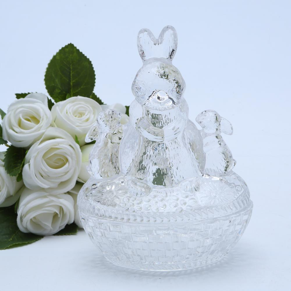 Br 1812 Wholesale Glass Bunny Candy Dish