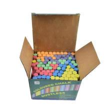 100 pcs pequeña escuela de color brillante dutless tiza para la pizarra