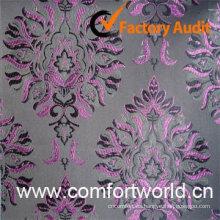 Tela de la cortina del telar jacquar, hecha de 82% poliéster, 18% viscosa