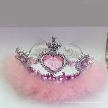 Nouvelle couronne de diadème en métal rose féerique princesse clignotante
