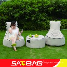 Outdoor fabric beanbag stool