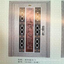 Innentür-Design aus Edelstahl mit niedriger Preissicherheit und Aluminiumblume
