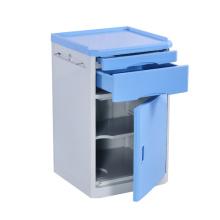 Nuevo producto de tendencia Muebles de hospital azules médicos del hospital del gabinete de la mesa de noche movible del ABS de la alta calidad