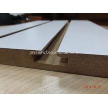 melamine slotted MDF board /slatwall MDF