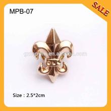MPB07 Insignes à broche métallique à la vente chaude, Badge à vêtements spéciaux, épingles à la mode