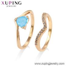 15444 Xuping женщины девушки Стиль Королевского ювелирного дизайна ледяной камень кольца комплект