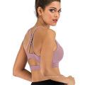 Soutien-gorge de yoga sexy à soutien moyen et dos ouvert