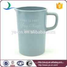 YSj0014 jarra de baño de cerámica azul moderno calcomanía