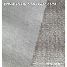 300/45 costurado costura veludo poliéster véu fibra de vidro