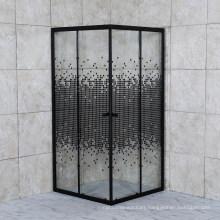 2021 Black Color Shower Enclosure with Print Glass