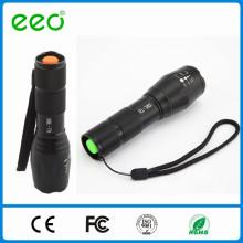 EEO G700 conduziu a lanterna elétrica Modos do zumbido 5, bateria do AAA ou 18650 Lanterna elétrica recarregável conduzida