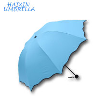 Creative Water Blooming Watermarking Wholesal Cheap Color Changing Fold Magic Umbrella Modern with Custom Logo for Advertising