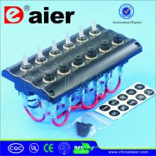 Interruptor de alavanca preto ou branco do diodo emissor de luz 12V / painel solar flexível marinho
