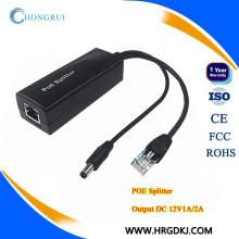 HRUI poe splitter 12v pour caméra IP, AP, téléphone IP