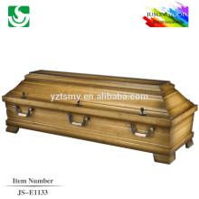 boîte de cercueil palissandre massif vente chaude