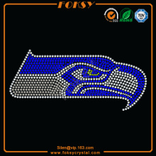 NFL Seattle Seahawk transferencia de calor strass al por mayor