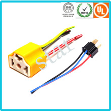 Car Electric 3 Pin Yellow Light Ceramic Connector H4-2A