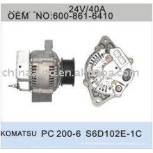 Alternator for komatsu PC200-6