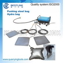 Indústrias extractivas uso bloco de pedra empurre para baixo ferramentas aço sacos hidroeléctricas