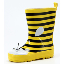 Bee Printing Design For Baby Rubber Rain Boots