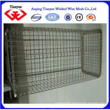 316L stainless steel wire mesh basket for storage