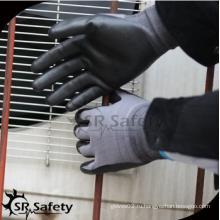 SRSAFETY высококачественные защитные перчатки / 15 г нейлон и спандекс пена nitirle с покрытием превосходная ловкость перчатки