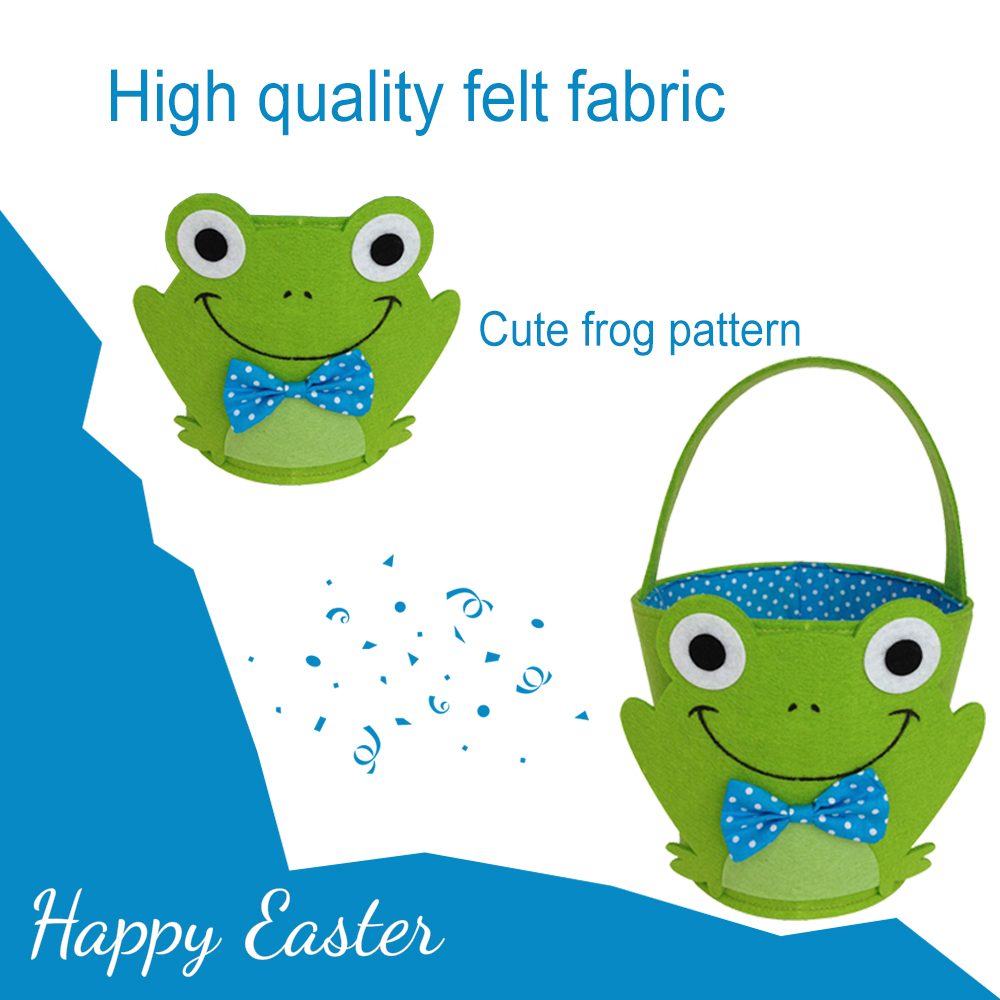 Easter frog candy basket