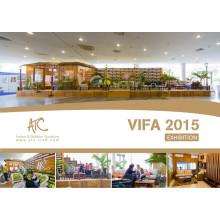 Vietnam Vifa Feria 2015 Fábrica de muebles de mimbre de patio
