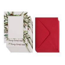 Набор из 36 фотокарточек для заметок - праздничные фотокарточки с бумагой и конвертами Поздравительные открытки с красной фольгой с Рождеством