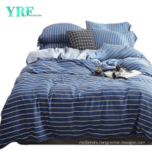 Cheap Price Modern Style College Dorm 4 PCS Queen Bed Cotton Stripe Bed Sheet