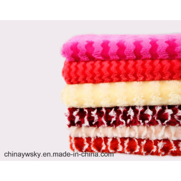 PV Poly Fleece con estampado de tela de felpa cepillada