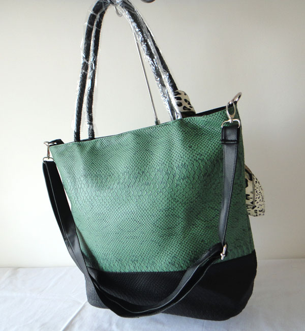 Synthetic Leather Shoulder Handbag