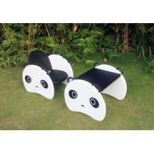 Promotion Product as Christmas Gift Panda Rocking Chair Wicker Furniture Bp-363