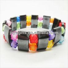 01B5002-4 / novos produtos para 2013 / hematite pulseira espaçador jóias / bracelete hematita / pulseiras de saúde hematita magnética