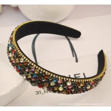 Fashion Jewelry/Fashion Hair Band/Beads and Ribbon Headband (XHJ12054)